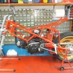 il blocco motore ho dato il mio primo motore realizzato per la mia Moretti numero 5